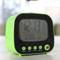 [都乐]迷你TV带小夜灯小闹钟 LED显示懒人钟 创意时钟