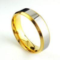 新款韩版戒指 时尚戒环 情侣戒指手饰 钛钢镀18K真金戒 货源批发