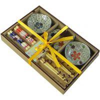 焦作市 定制陶瓷碗筷组合套装 蓝花六件套热销中