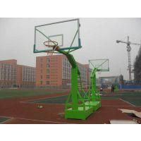 广东篮球架 移动式凹箱半自动液压篮球架 移动带轮篮球架