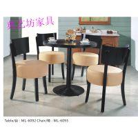 六约茶餐桌子,老街茶餐椅子定制,定做价格,深圳茶餐厅家具实拍图