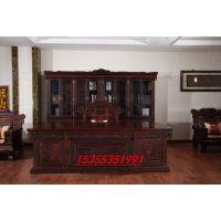 山东红木家具哪里买 港龙红木 大红酸枝 老班台 古典家具价格怎么样