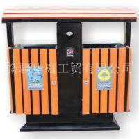 新疆垃圾桶/新疆户外塑木环保垃圾桶优质供应/果皮箱华庭优选