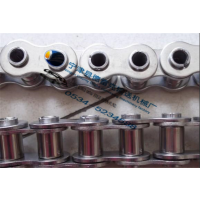 08B不锈钢链条 4分精密套筒滚子链 节距12.7不锈钢链条
