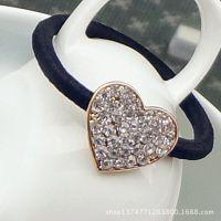 韩国饰品 精美可爱水钻星星心型发绳发饰发圈饰品批发 女 多款入