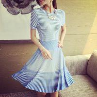 小银子2015夏装新款气质显腿长超舒适收腰连衣裙Q5104