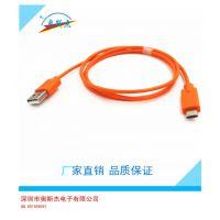 厂家直销供应USB延长线 USB2.0电脑线材 黑色USB延长线3米