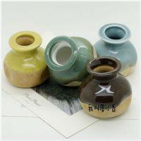 景德镇陶瓷手工原创 小清新  简约 纯色  陶瓷小花盆 多肉盆