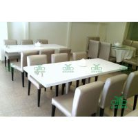 广东高级西餐厅餐桌 大理石餐桌,连锁店餐饮店餐椅 运达来定做