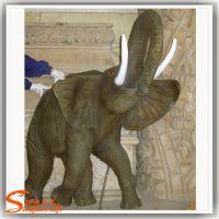 厂家直销仿真动物摆件 大型树脂工艺品 动物园造景玻璃钢大象 玻璃钢大门大象