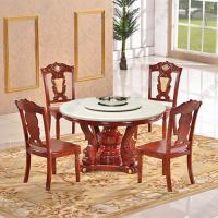 海德利 古典中式圆形电磁炉火锅台 小肥羊大理石火锅餐厅桌子