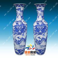 陶瓷落地大花瓶批发 仿古清明上河图青花瓷价格 客厅摆件花瓶图片