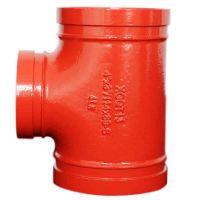 质优价廉潍坊亿佰通沟槽管件,消防管道连接件三通,可锻铸铁件