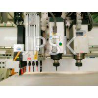 JP双工序【双台面】+排钻高效打孔开料开槽全自动数控下料机价格