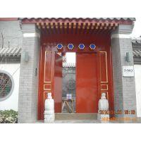 北京厂家定做四合院庭院木门 垂花门 广亮大门