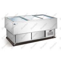 HX-16海鲜柜 保鲜肉柜 玻璃门保鲜柜 卧式冰柜 玻璃门展示柜 中餐柜 西餐工作台 厨房冷柜
