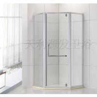 铝合金钻石型掩门 天利淋浴房屏风 推拉门