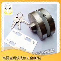 半圆单门内带扭球型锁门锁单扇玻璃门上安装锁具 玻璃门锁销量王
