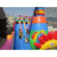 热销大型充气滑梯 儿童乐园充气城堡 充气蹦床跳床气垫在哪做生意好