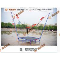 支架钢管蹦极床游乐设备 公园里流行的蹦极设备玩具 户外方形蹦极蹦床多少钱一台