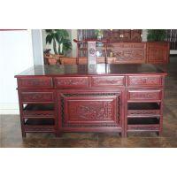 1.8米福禄寿办公桌价格,非洲花梨木书桌做酸枝色
