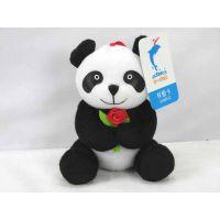 东莞厂家供应坐姿可爱熊猫毛绒玩具宣传礼品开发设计