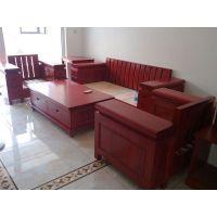 烟台瑞馨家具定做中式实木沙发组合,欢迎到店里来