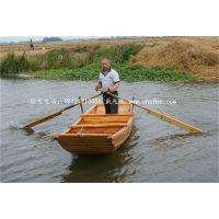 楚风定制安徽巢湖小区保洁船小渔船木质手划船哪里有