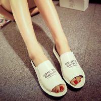 韩版2015夏季新款浅口露趾女鞋平底女式凉鞋舒适鱼嘴凉鞋批发