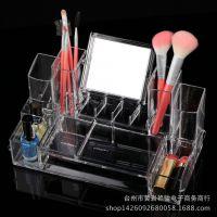 新款亚克力珠宝首饰饰品盒 透明带镜子抽屉桌面化妆品收纳盒430B