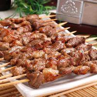 厂家批发 竹签羊肉串半成品烤肉串 烧烤食材7500g/箱 供大连商场