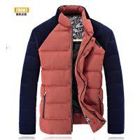 2015年河北保定冬季新款中老年加厚男式棉服立领保暖男士毛衣批发