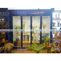 四川成都过嘛生活鲜花馆铝合金三门鲜花保鲜柜如何控制湿度