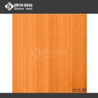 热转印不锈钢沙比得木纹板 304哑光拉丝钢板 墙面不锈钢装饰材料