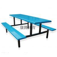 广东 学校食堂餐桌椅安装 玻璃钢台面的餐桌安全吗 有椅脚下加防滑脚垫么康腾体育