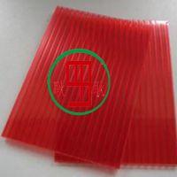 上海厂家供应3mm红色阳光板轻材质耐候pc晶亮阳光板晶砖中空板