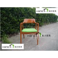 工厂直销广岛实木椅子 咖啡厅日式椅子 上海韩尔家具厂制造
