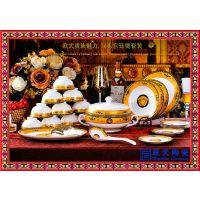 景德镇陶瓷餐具批发 陶瓷餐具厂家碗碟套装 餐具套装定制logo