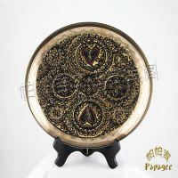 异域特色手工铜雕装饰盘 巴基斯坦工艺礼品畅销 小额批发  BH045