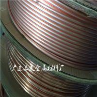 导电用TP2无缝圆形铜管_飞轮R410A紫铜盘管批发