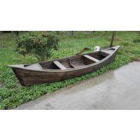 供应庆荣木业欧式手划船 欧式船 钓鱼船 月牙船 纯手工木船 漂流木船
