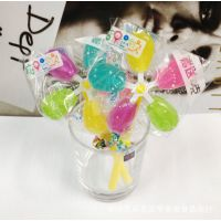 糖果总动员 风车糖果五色透明水晶 创意糖果25g 1*24一盒 批发