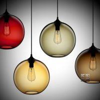创意玻璃餐吊灯 现代简约单头透明饭厅餐厅吊灯 吧台灯饰灯具 特