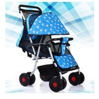轻便折叠八轮婴儿推车可坐可躺夏季宝宝出行必备童车