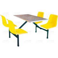 靠背连体玻璃钢餐桌椅广州厂家出售