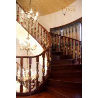 上海包邮上门测量室内楼梯别墅高档楼梯中式风格楼梯纯手工雕刻