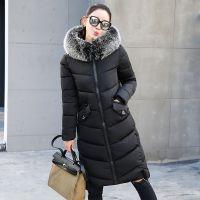 冬季新款精品女装韩版时尚修身长款棉衣女式棉服学生棉外套W11H28