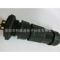 航空插头厂家供应M19型大电流航空插 防水连接器(2芯对接)