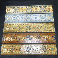 佛山仿古波导线波打线150x800 亚光田园装饰框条围边踢脚线瓷砖
