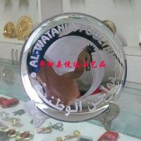 纯银纪念盘定做 定做奖盘 彩印纪念盘销售 金属盘 纪念品 悦达礼品 定制